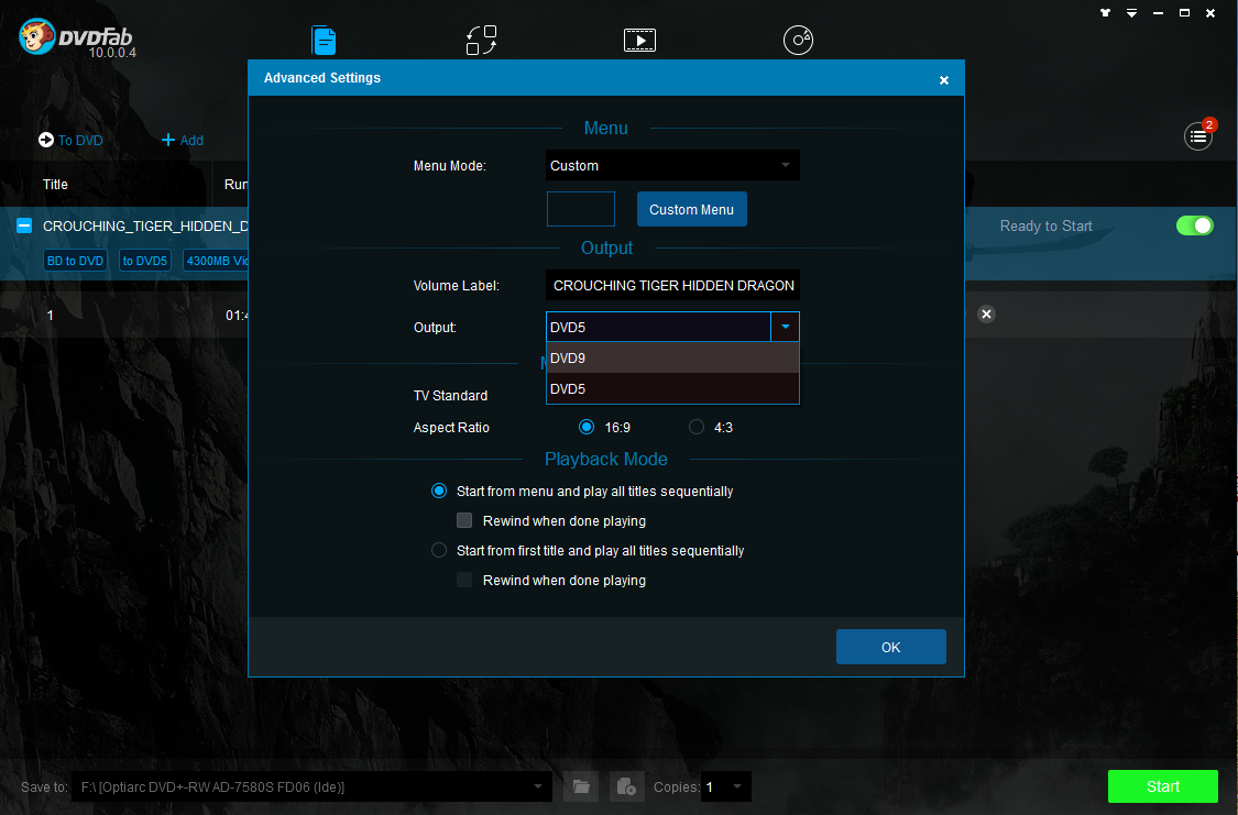 dvdfab blu-ray to dvd converter screenshot 2